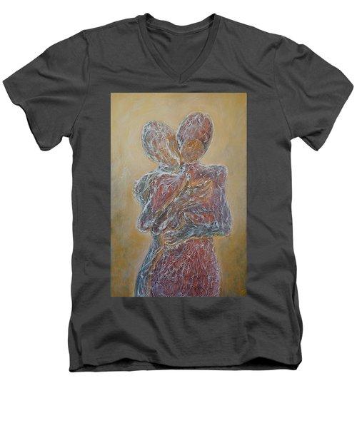 Where You Start And I Begin Men's V-Neck T-Shirt by Theresa Marie Johnson