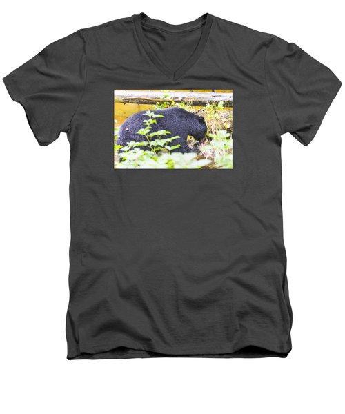 Wheres The Bagel Men's V-Neck T-Shirt by Harold Piskiel