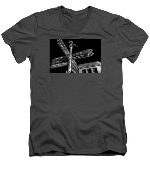 Which Way In Milwaukee? Men's V-Neck T-Shirt