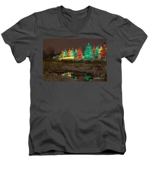 Whimsical Christmas Lights Men's V-Neck T-Shirt