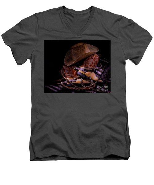 Whip It Cowboy Men's V-Neck T-Shirt