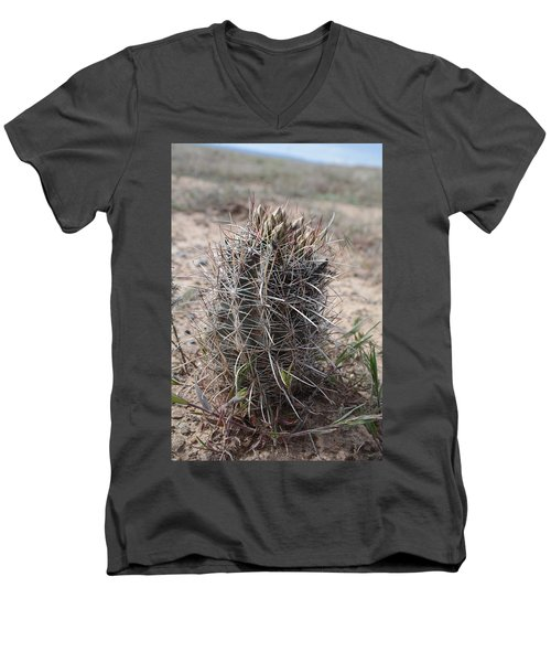 Men's V-Neck T-Shirt featuring the photograph Whipple's Fishook Cactus by Jenessa Rahn