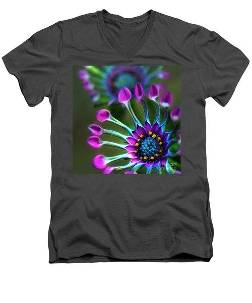 Whirligig Men's V-Neck T-Shirt by Judi Bagwell