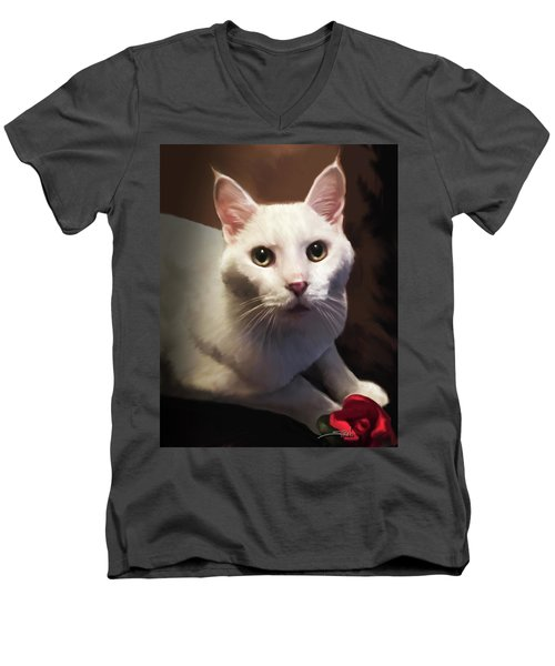 Whiskers And Rose Men's V-Neck T-Shirt