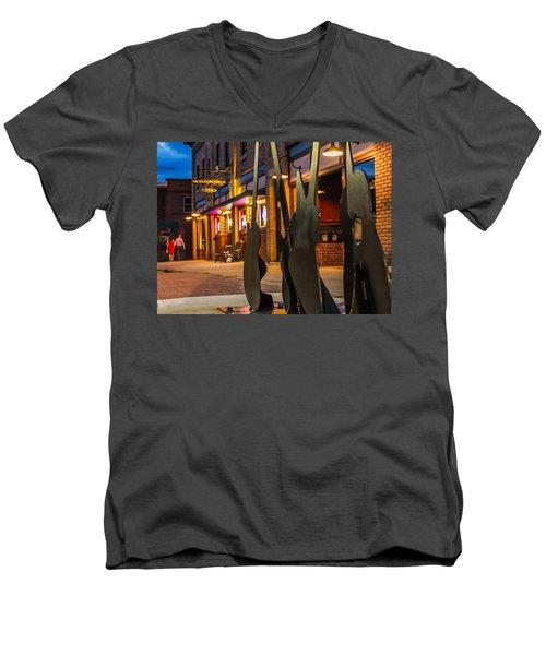 Whiskerz And Guitar Icons Men's V-Neck T-Shirt