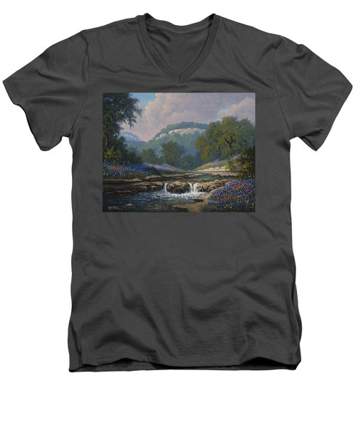 Whispering Creek Men's V-Neck T-Shirt