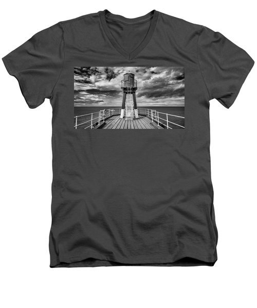 Whitby Pier Men's V-Neck T-Shirt