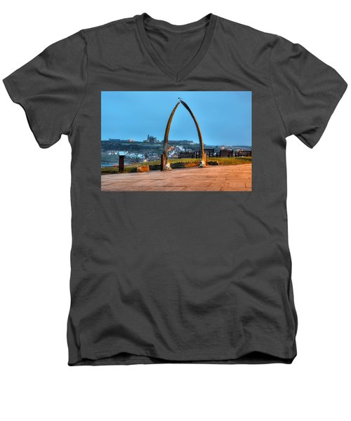Whitby Whalebone Blue Hour Men's V-Neck T-Shirt