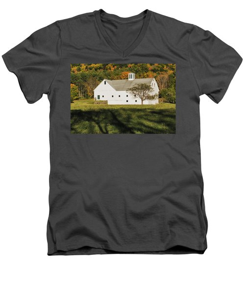 White Barn In Color Men's V-Neck T-Shirt