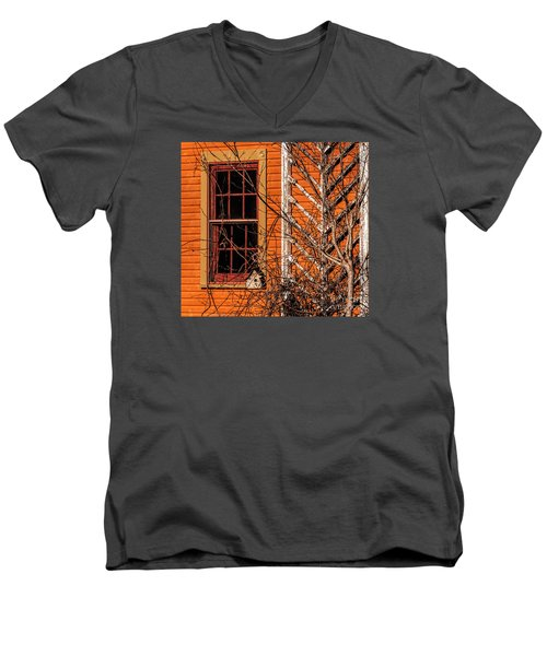 Men's V-Neck T-Shirt featuring the photograph White Bird House by Trey Foerster