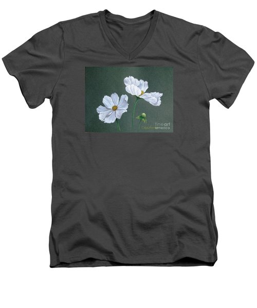 White Cosmos Men's V-Neck T-Shirt
