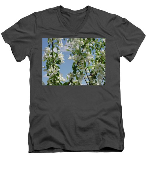 White Crabapple Men's V-Neck T-Shirt
