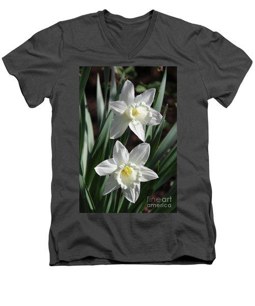White Daffodils #2 Men's V-Neck T-Shirt