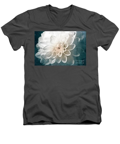 White Dahlia Men's V-Neck T-Shirt