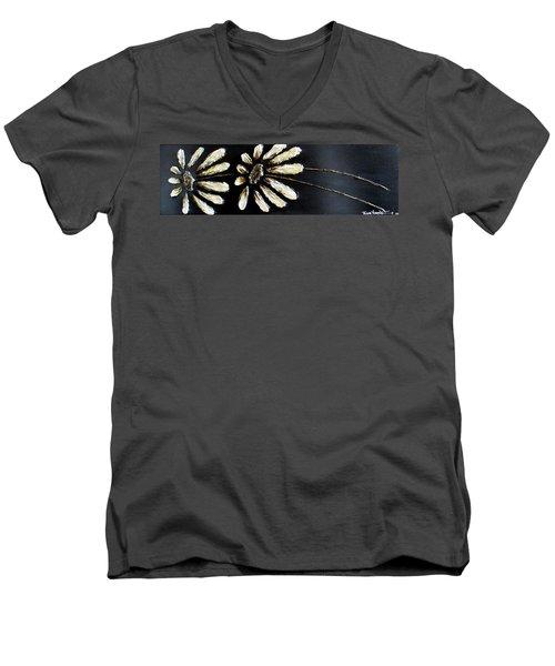 White Daisies Men's V-Neck T-Shirt