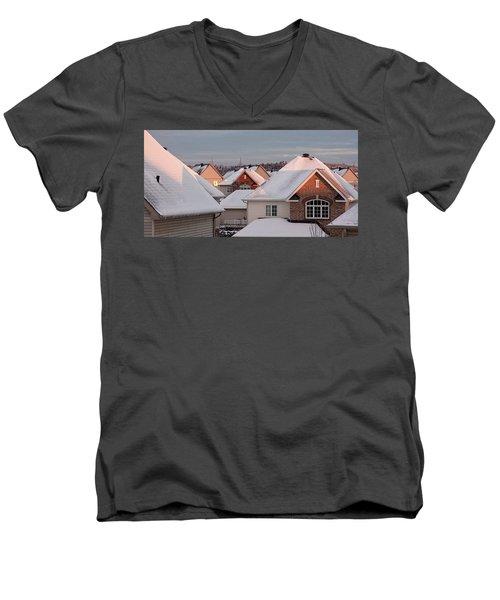 White December Rooftops Men's V-Neck T-Shirt