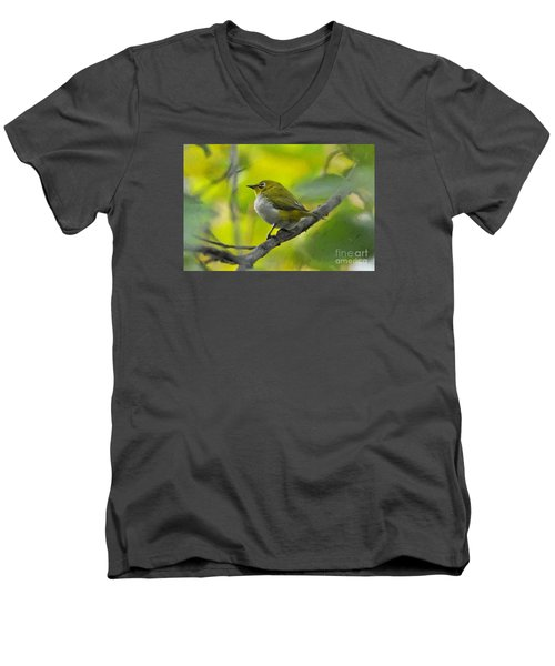 White Eye 1 Men's V-Neck T-Shirt