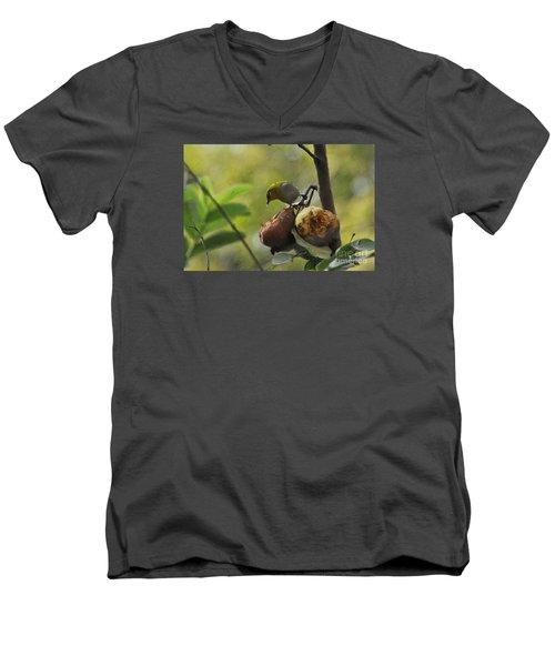 White Eye 4 Men's V-Neck T-Shirt