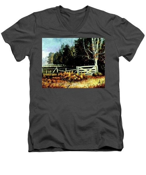 White Gate Men's V-Neck T-Shirt