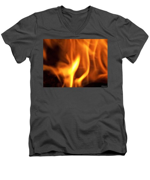 Men's V-Neck T-Shirt featuring the photograph White Hot by Betty Northcutt
