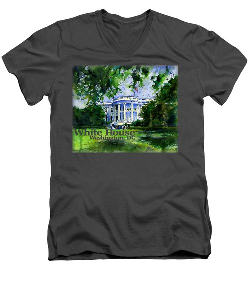 White House Dc Shirt Men's V-Neck T-Shirt