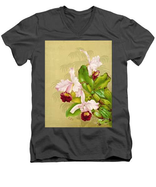 White House Orchid 1892 Men's V-Neck T-Shirt