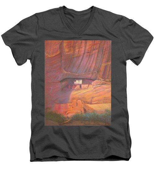 White House Rock  Home Of He Anasazi He Anasazi Men's V-Neck T-Shirt