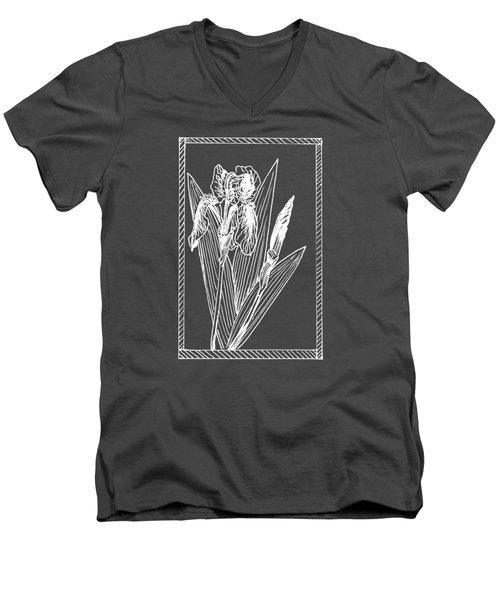 White Iris On Transparent Background Men's V-Neck T-Shirt