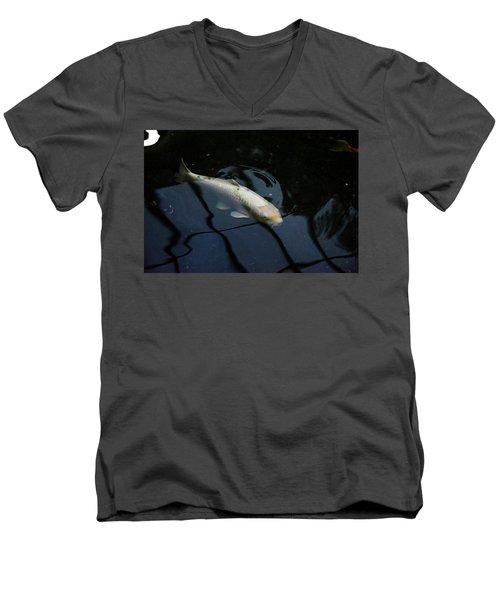 White Koi Men's V-Neck T-Shirt