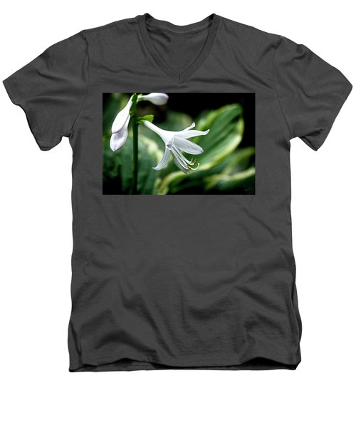 White Lily 1 Men's V-Neck T-Shirt