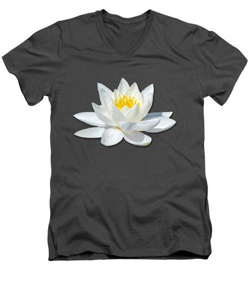 White Lily 2 Men's V-Neck T-Shirt by Bob Slitzan