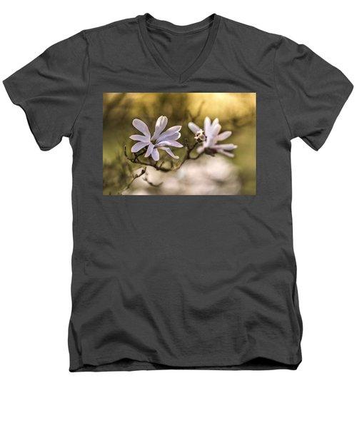 White Magnolia Men's V-Neck T-Shirt