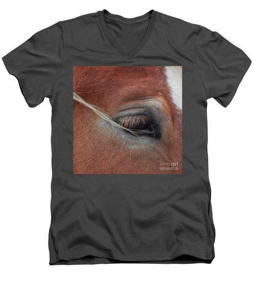 White Mane's Eye Men's V-Neck T-Shirt