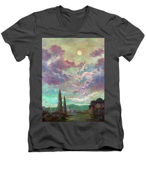 White Moon Rising Men's V-Neck T-Shirt