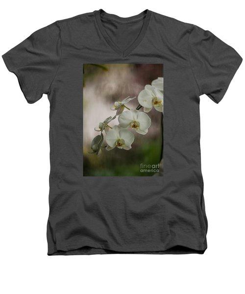 White Of The Evening Men's V-Neck T-Shirt by Mike Reid