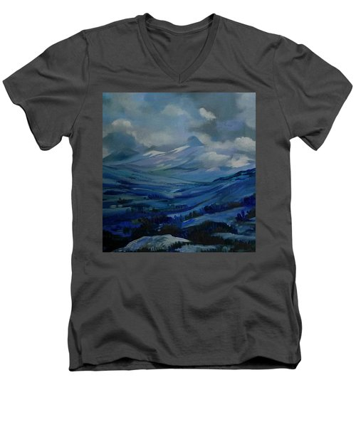 White Pass Men's V-Neck T-Shirt by Anna  Duyunova