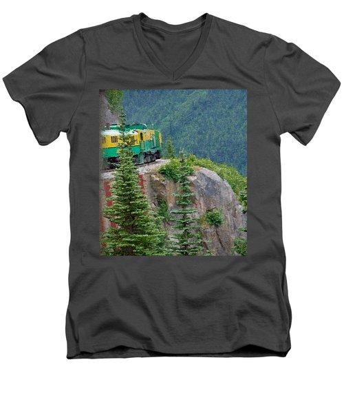 White Pass Train Alaska - Canada Men's V-Neck T-Shirt