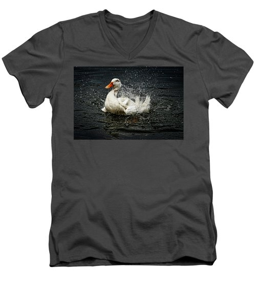 White Pekin Duck Men's V-Neck T-Shirt