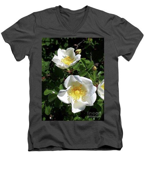 White Perfection Men's V-Neck T-Shirt
