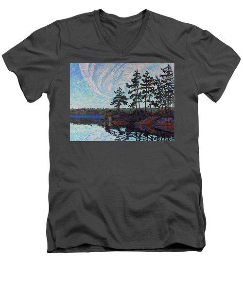 White Pine Island Men's V-Neck T-Shirt