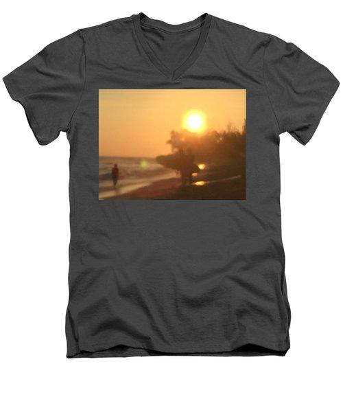 White Plains Beach Men's V-Neck T-Shirt
