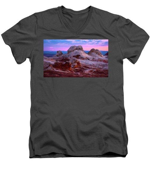White Pocket Men's V-Neck T-Shirt