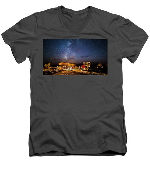 White Rim Camp Men's V-Neck T-Shirt