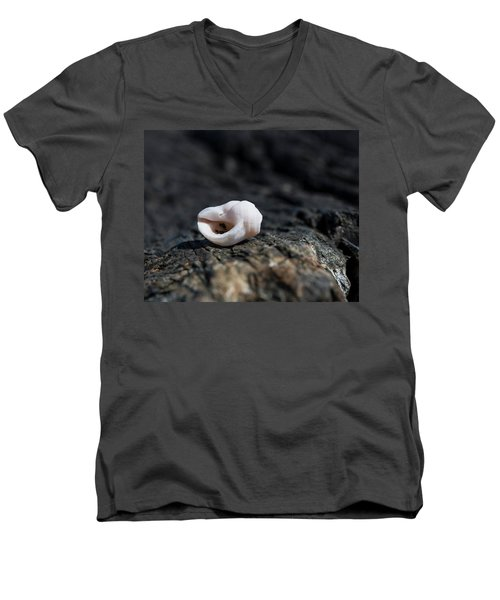 White Shell Men's V-Neck T-Shirt