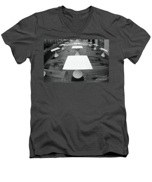 White Tables Men's V-Neck T-Shirt