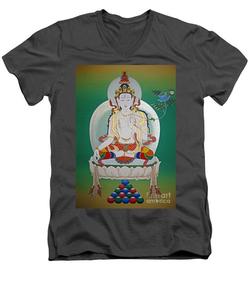 White Tara Men's V-Neck T-Shirt