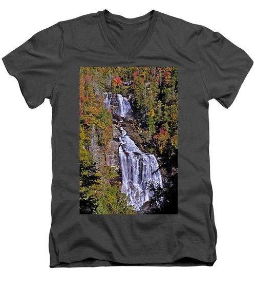 White Water Falls Men's V-Neck T-Shirt