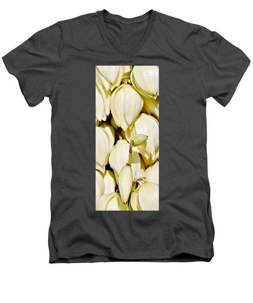 white Yucca flowers Men's V-Neck T-Shirt