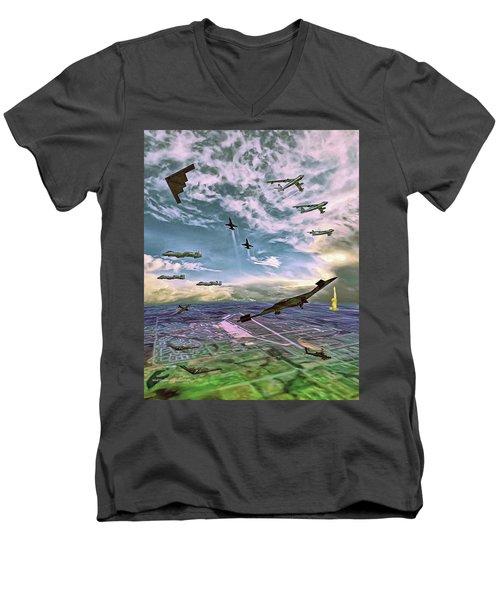 Whiteman Air Force Base Men's V-Neck T-Shirt by Dave Luebbert