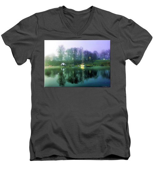 Men's V-Neck T-Shirt featuring the photograph White's Cove Awakening by Brian Wallace